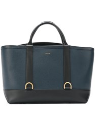 Sacai Dual Colour Tote Bag Women Calf Leather Metal Other One Size Blue