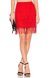 Lovers Friends X Revolve Cast Away Skirt Red