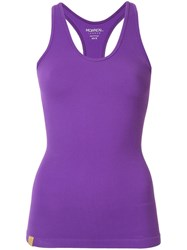 Monreal London Seamless Ribbed Tank Top Purple