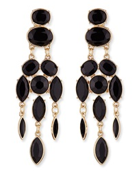 Jules Smith Designs Jules Smith Black Drop Chandelier Earrings