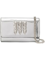 Philipp Plein It Is For You Clutch Silver