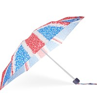 Fulton Tiny 2 Floral Union Jack Umbrella London Micro Flower