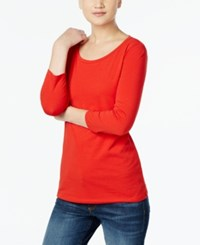 Max Mara Maxmara Three Quarter Sleeve T Shirt Red
