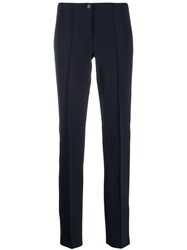 Cambio Cropped Straight Leg Trousers Blue