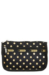 Le Sport Sac Lesportsac Travel Cosmetic Case Black And Gold Foil