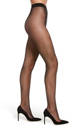 Hanes Plus Size Dot Net Tights Black