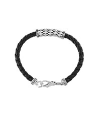 Effy Gento Sterling Silver And Leather Bracelet