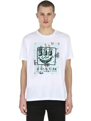 Coach Keith Haring Logo Cotton Jersey T Shirt White