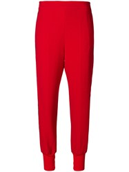 Stella Mccartney Loose Fitted Track Trousers Red