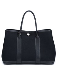 Herma S Vintage 'Garden Party' Tote Black