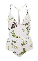 Made By Dawn Racerback Traveler One Piece Swimsuit White