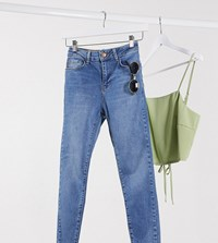 New Look Petite Lift And Shape Skinny Jean In Mid Blue