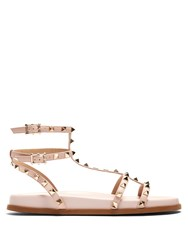 Valentino Submerge Rockstud Leather Sandals Light Pink