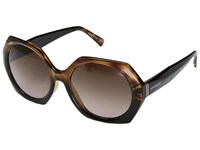 Von Zipper Buelah Reverse Black Tortoise Brown Gradient Sport Sunglasses Reverse Black Tortoise Brown Gradient