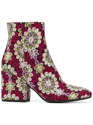 Fausto Zenga Embroidered Ankle Boots
