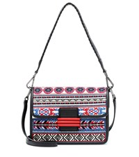Etro Rainbow Raffia Shoulder Bag Multicoloured