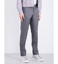 Thom Browne Low Rise Wool Trousers Med Grey