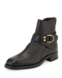 Tom Ford Guilford Leather Chelsea Buckle Boot Black