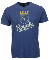 '47 Brand Men's Kansas City Royals Scrum Logo T Shirt Blue