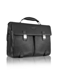 Piquadro Front Pocket Laptop Briefcase Black