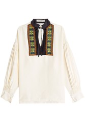 Etro Silk Blouse With Embroidery