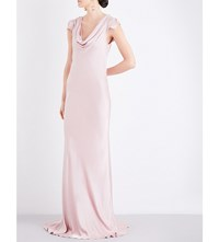 Ghost Sylvia Satin Dress Boudoir Pink