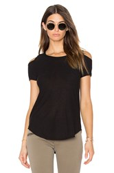 Chaser Open Back Cold Shoulder Tee Black