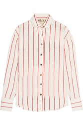 A.W.A.K.E. Oversized Striped Jacquard Shirt Ivory
