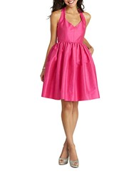 Donna Morgan Halter Fit And Flare Dress Pink