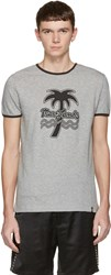 Marc Jacobs Grey Palm Tree Ringer T Shirt