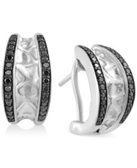 Effy Collection Effy Balissima Black Diamond Earrings 3 8 Ct. T.W. In Sterling Silver