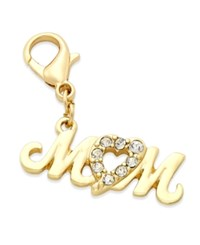 Thalia Sodi Gold Tone Pave Mom Clip On Charm Only At Macy's