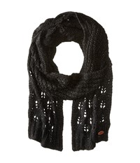 Roxy Let Me Ride Knit Scarf True Black Scarves