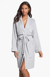 Women's Lauren Ralph Lauren Quilted Collar Robe Grey Heather