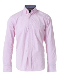 Eden Park Striped Shirt Hot Pink
