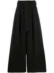 Zimmermann Tied Wide Leg Trousers Black