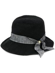 Ca4la Tweed Ribbon Hat Black
