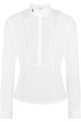 Cavalleria Toscana Stretch Cotton Poplin And Jersey Top