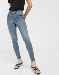 Dr. Denim Dr High Rise Skinny Jean In Authentic Wash Blue