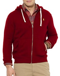 Polo Big And Tall Zip Front Fleece Hoodie Red