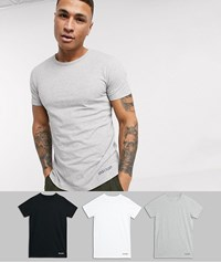 Lyle And Scott 3 Pack Lounge T Shirts In Black White Grey Multi