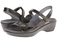 Naot Footwear Reserve Metal Leather Pewter Leather Metal Leather Women's Wedge Shoes