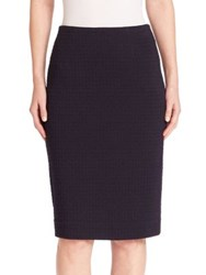 Nanette Lepore Textured Pencil Skirt Black Plum
