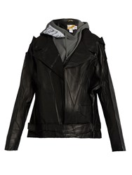 Vetements Schott Leather Biker Jacket Black