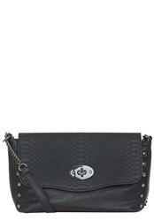 Hallhuber Faux Leather Snake Print Handbag Black