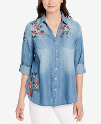 Vintage America Cassidy Embroidered Shirt Artic Blue