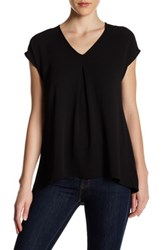 Spense Cap Sleeve Pleat Blouse Black
