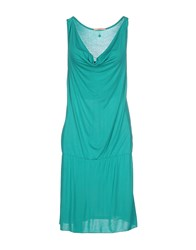 Gj Gaudi' Jeans Dresses Knee Length Dresses Women Emerald Green