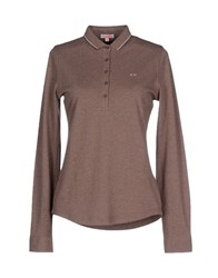 Sun 68 Polo Shirts Light Brown