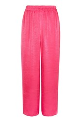 Topshop Petite Satin Pull On Trousers Pink